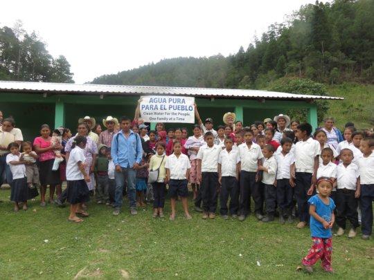 Agua Pura recently visited the Rio Negro school