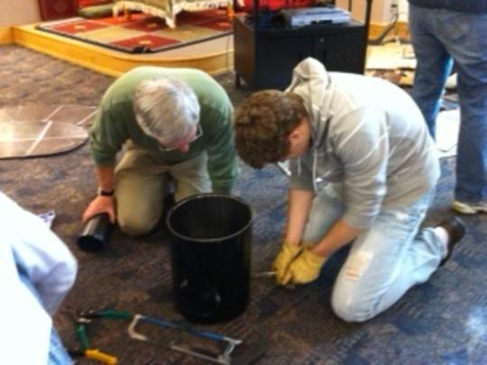building a rocket stove