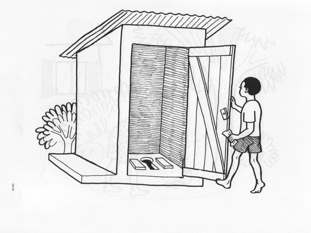 Use a latrine to keep the environment clean