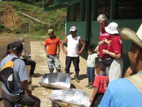 learning about solar stoves in rural Guatemala