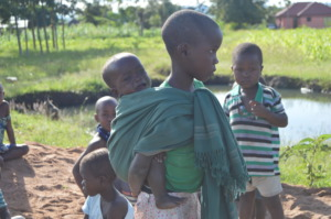 Children Excited about Water coming to the Village