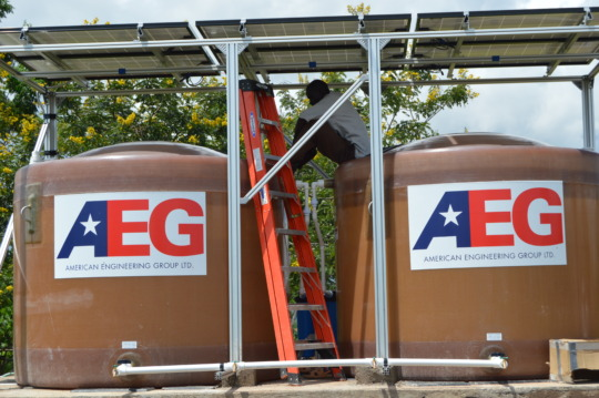 The Water Tanks Ready for Use