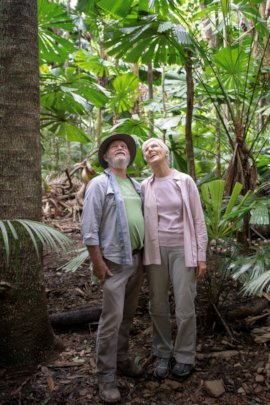 Barbara and Allen Sheather in the Rainforest