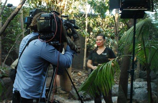 Jennifer Croes prepares for live TV cross