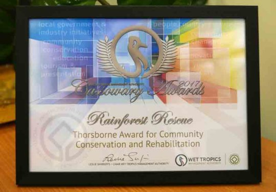 Thorsborne Award for Community Conservation