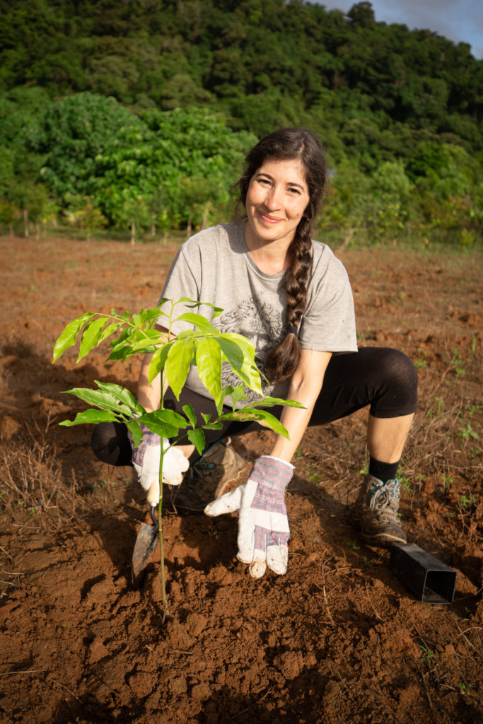 Volunteer Planting a Tree
