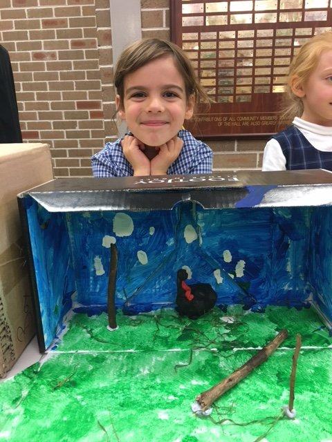 School children showcasing Cassowary habitat