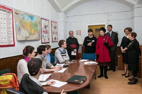 Princess Anne visits the classes