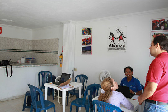 Meeting in the Alianza office