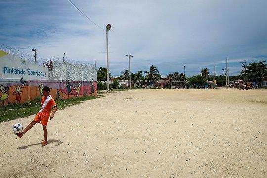 Tiempo de Juego's football field