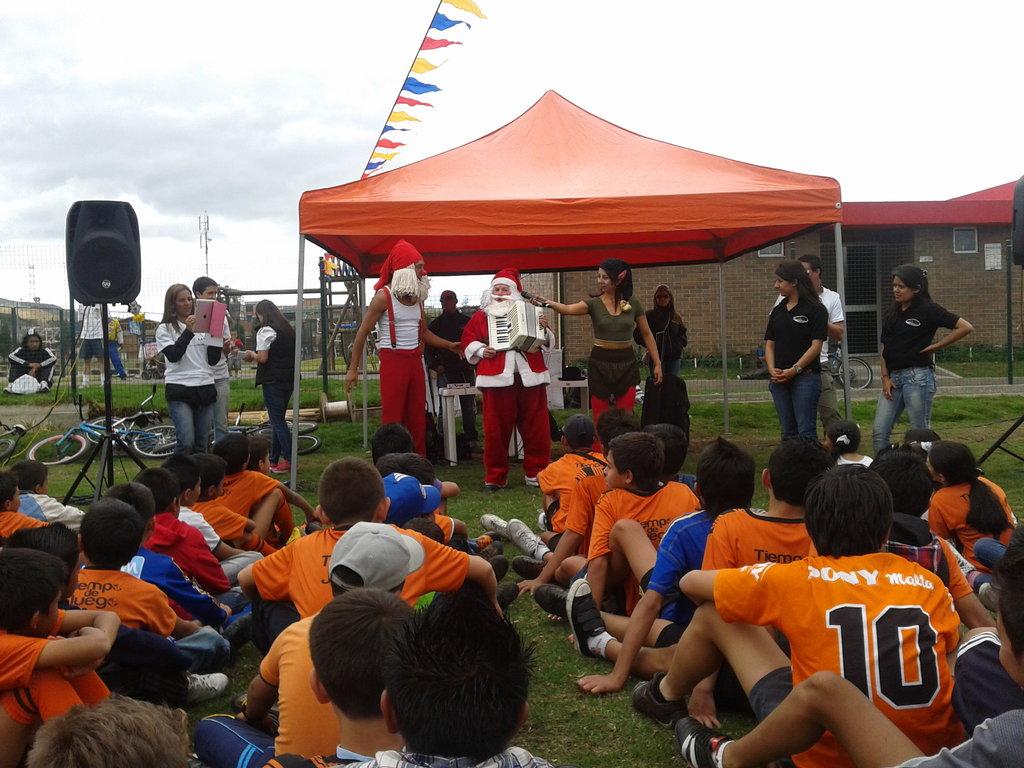 Santa Clauss was present in Cazuca