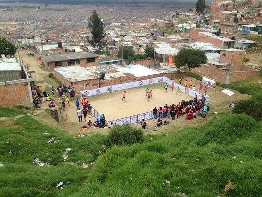 Soccer in Altos de Cazuca