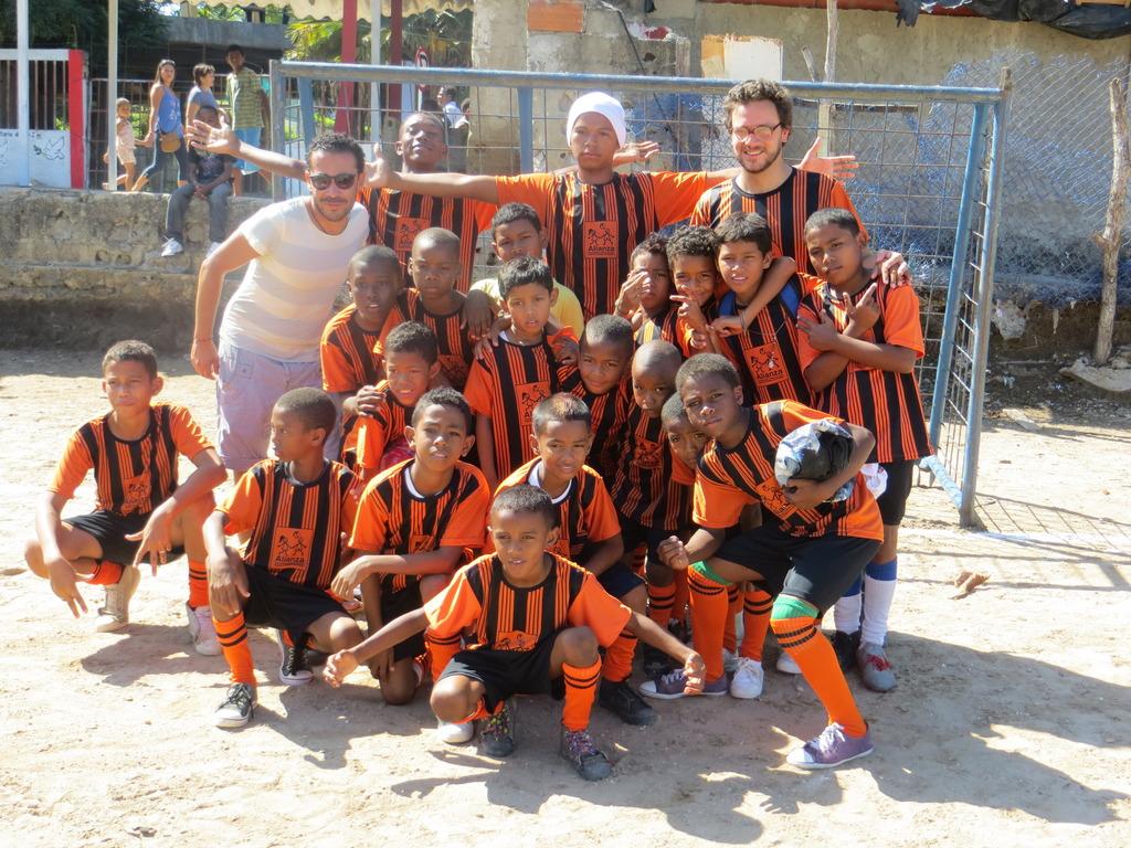 With the new uniform in Santa Rita - Cartagena