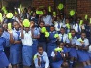 Girls at Mabhikwa Secondary School in Lupane, Zim