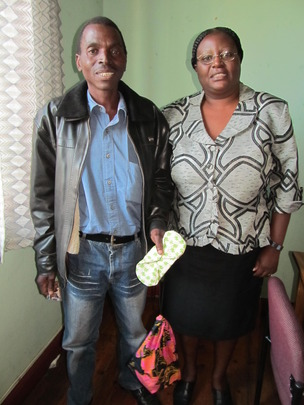 Linda with Lameck, a DfG hero in Lupane