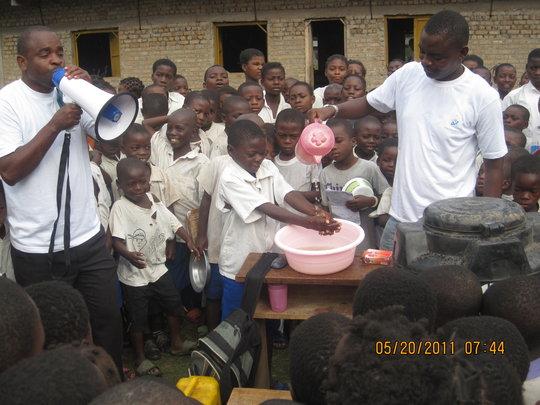 Hand Washing Demonstration in Primary School