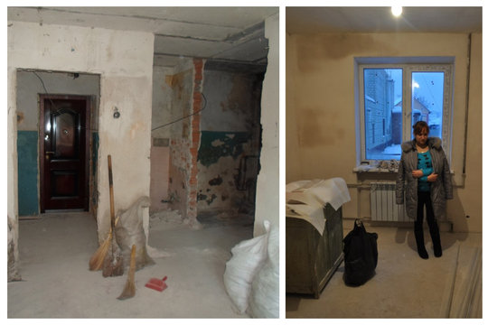 Nina's apartment before renovation in 2012