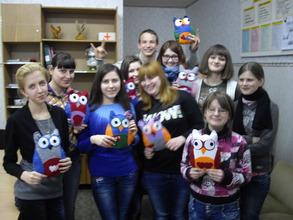 The art workshop in Bila Tserkva, 12 February 2013