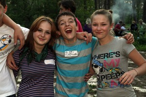 Young care leavers are enjoying summer camp 2012