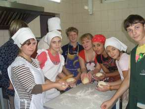 Youth Club - learning how to make pizza