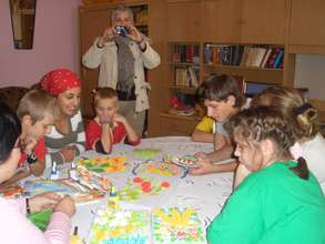 A handicraft workshop at the youth club
