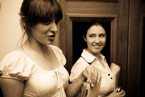 Anya with her mentor Oksana