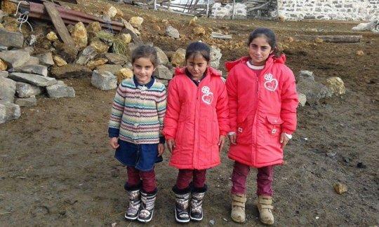 Catkale Elemantary School kids warm and happy...
