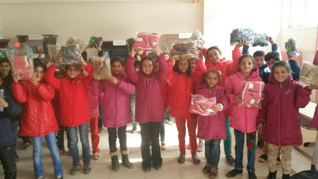 Yetkinler Village School students got new boots