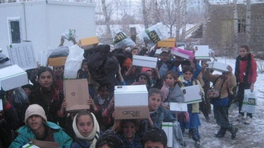 Send warm boots to needy students in Turkey
