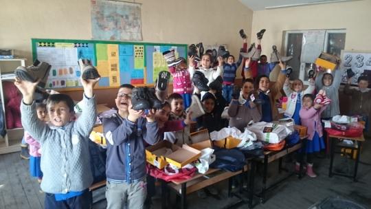 Karatoklu School Kids got their new boots...