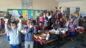 Karatoklu School Kids got their new boots...