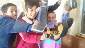 Warm kids warm smiles...