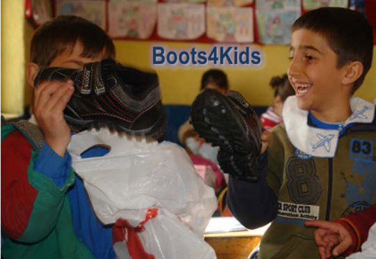 A Scene from Boots4Kids Project