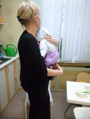 Varvara with daughter