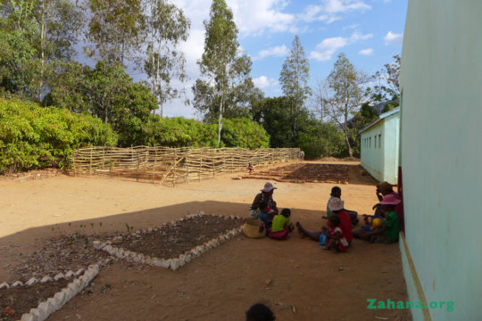 New Tree Nursery and school garden in Faidanana