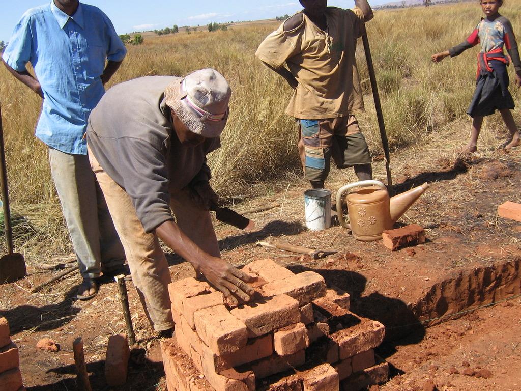 Bricks to built their new school
