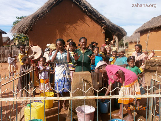 Celebrating at the communal clean water system