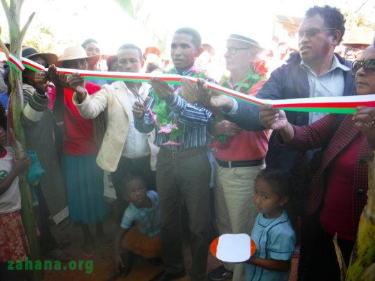 Ribbon cutting ceremony: education director