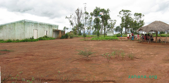 The schoolyard in Fiarenana in a panorama shot