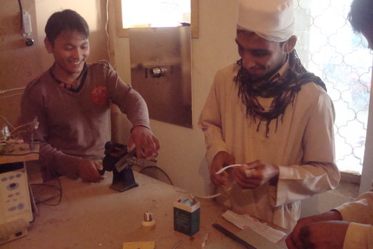 Afghan refugee's youth learning skills