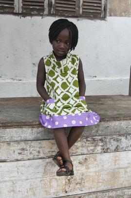 The Girls Eli Dress sewn in Ashaiman.