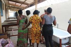 Batikers exploring their new workshop