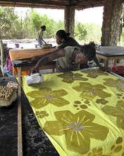 Batikers at work in Prampram