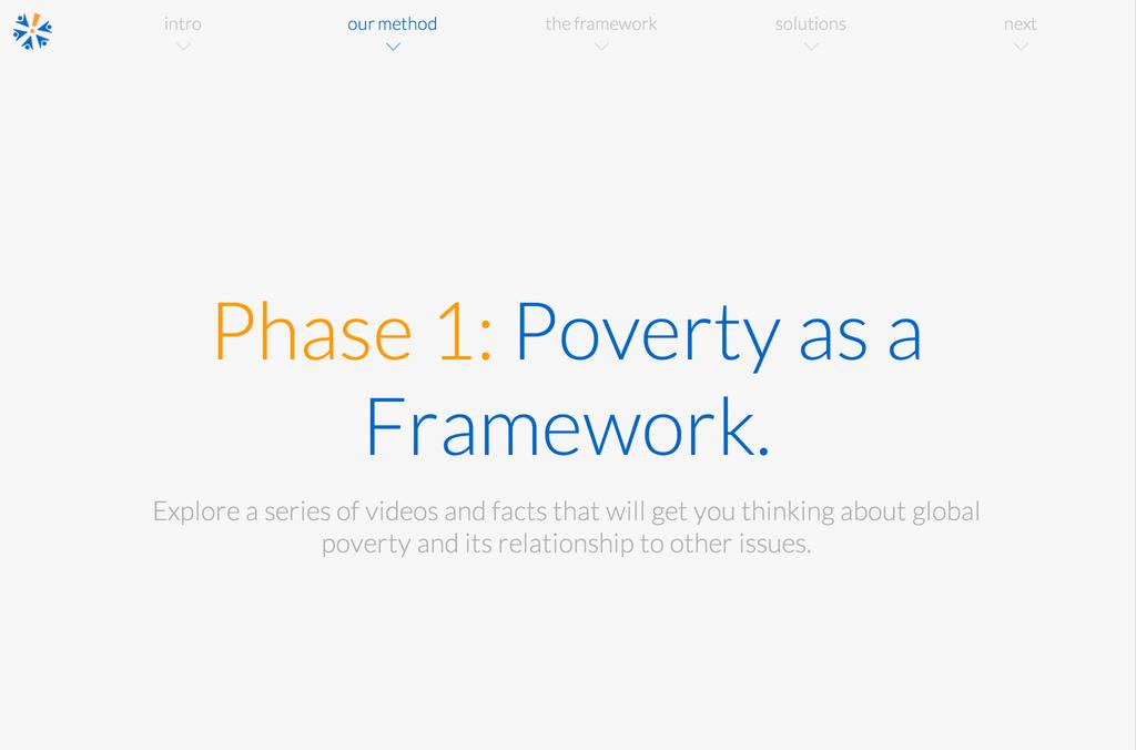 Phase 1: Poverty as a Framework