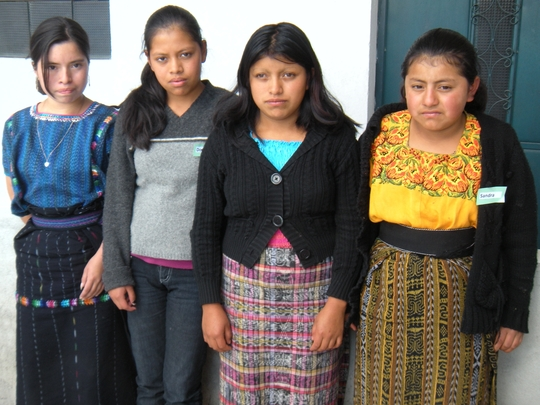 Josefina Chacom,  (third from left)with Friends