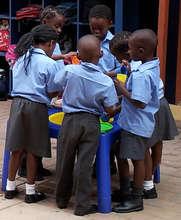 Vuleka students working on their fine motor skills