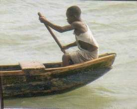 A child being used in fishing