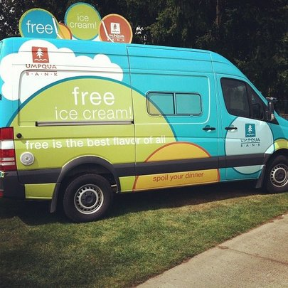 Umpqua Bank Ice Cream Truck