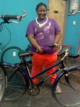 Fall Earn-A-Bike graduate Jasmine