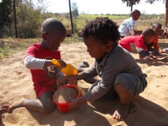 Children Playing at the Creche